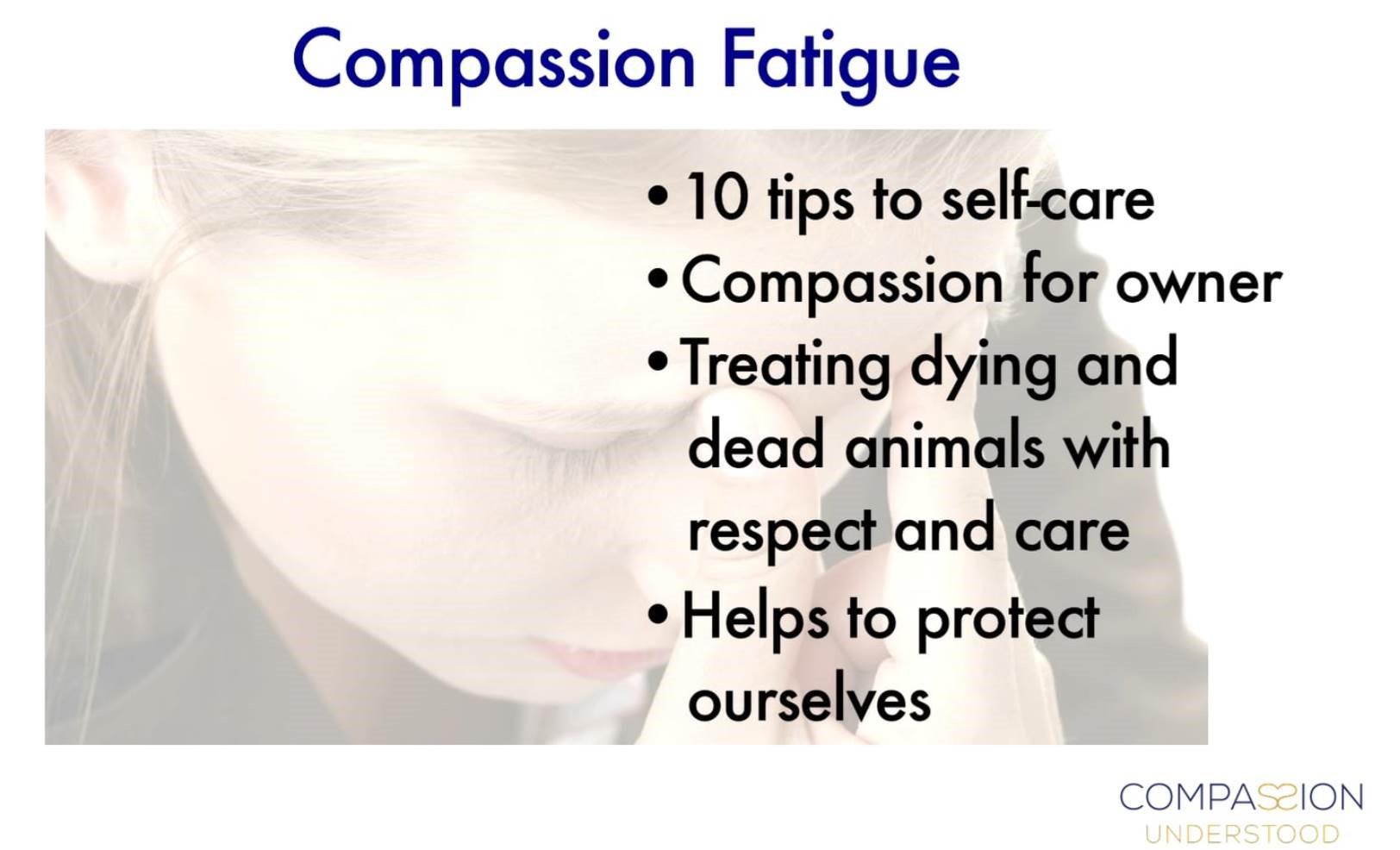Combatting compassion fatigue: some tips from CU